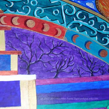 Archangel #1 Mandala: 07 - highlights on trees & branches