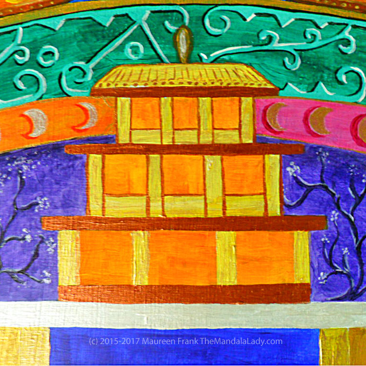 Archangel #1 Mandala: 12 - Roof and Column details on marigold temple