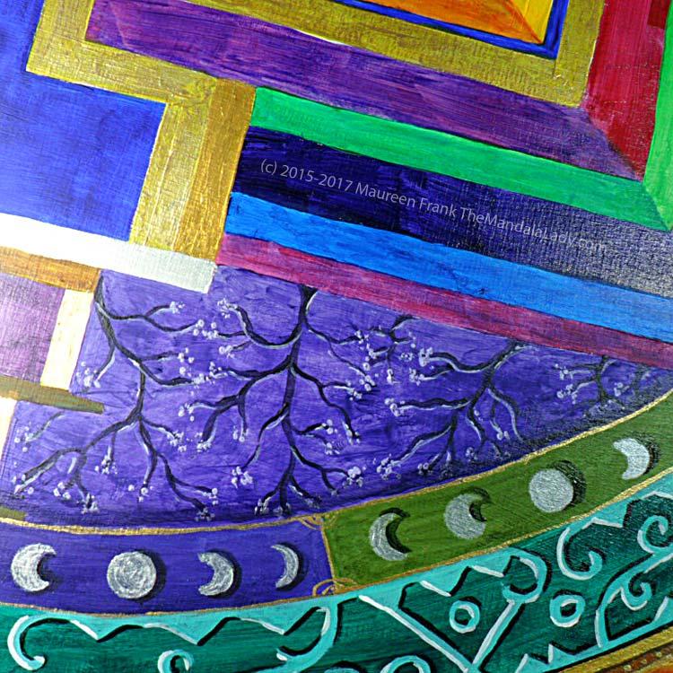 "Archangel #1 Mandala: 11 - Shadow from ""moon"" band"