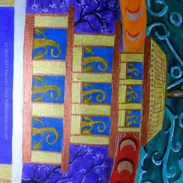 "Archangel #1 Mandala: 15 - ""new growth"" symbols within turquoise temple"
